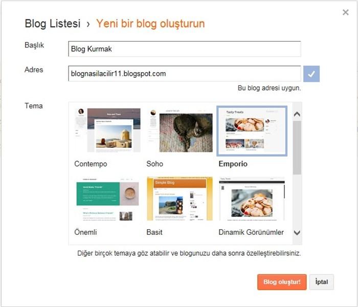 Blog Oluşturmak / Blog Aç