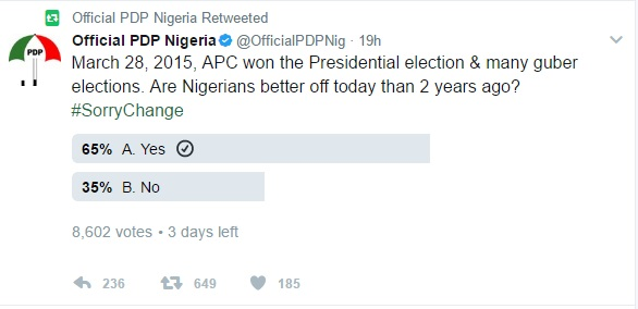 PDP On Twitter