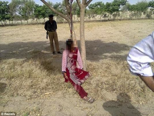 Barbaric! 20 year old woman gang r*ped, killed and hung on a tree (Photo)