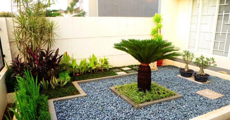 14 contoh pemasangan batu koral untuk taman minimalis