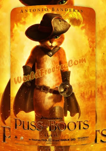Poster Of Puss In Boots (2011) Full Movie Hindi Dubbed Free Download Watch Online At worldofree.co