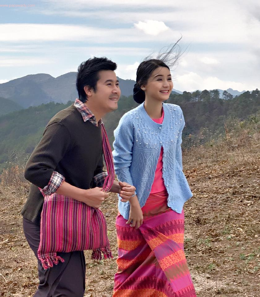 Nay Toe and Khin Wint Wah Behind The Scenes Shots from New Movie
