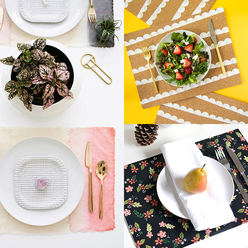 Awesome homemade placemats to dress up your table