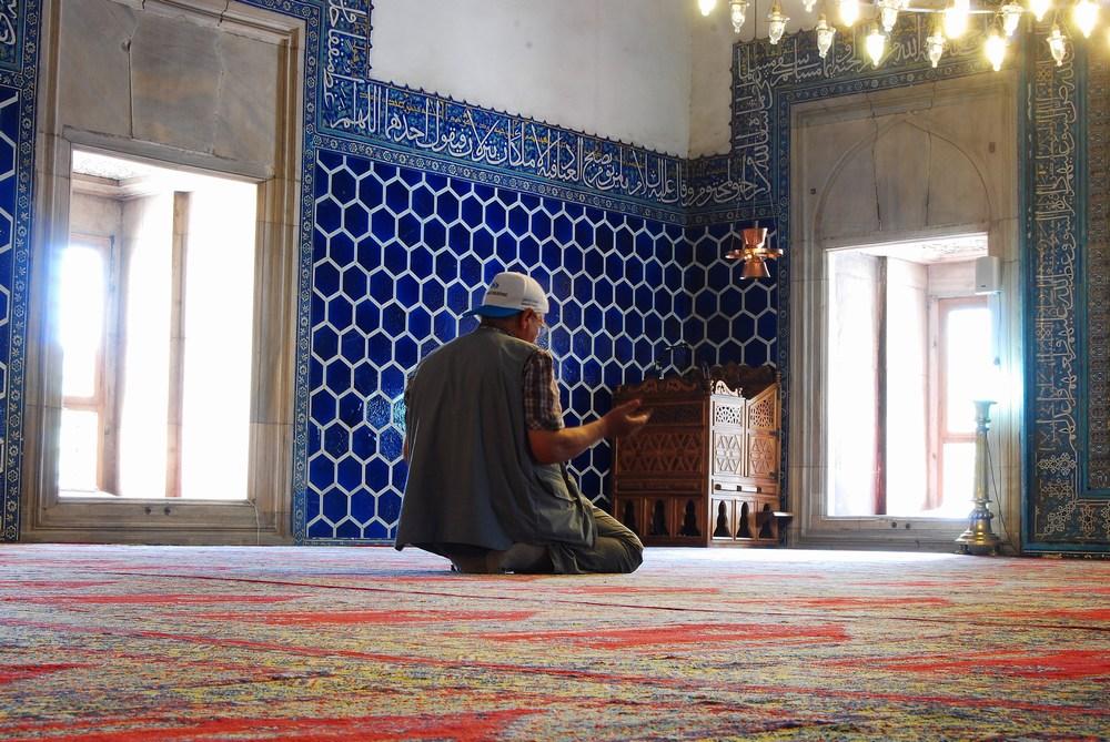 prière dans la mosquée