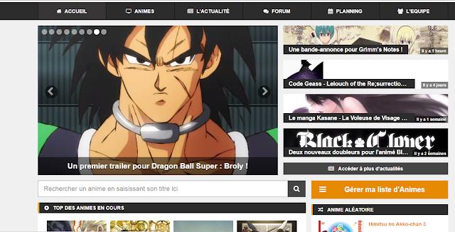site de streaming manga et anime