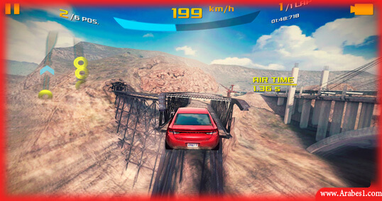 افضل العاب قيادة سيارات اندرويد : Asphalt 8: Airborne
