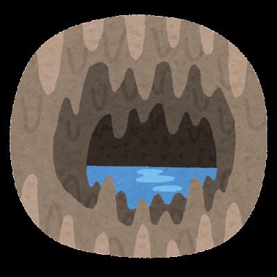 鍾乳洞のイラスト