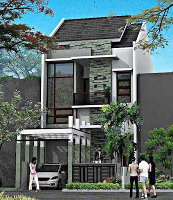 Model Desain Rumah Minimalis 2 Lantai Sederhana Asri dan Nyaman