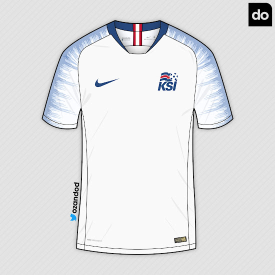 the latest 60b5a 825fe Nike Iceland 2018 World Cup Home & Away Concept Kits by ...