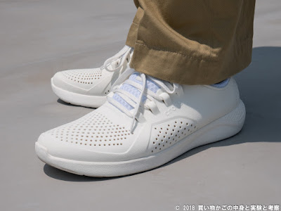 crocs LiteRide Pacer 着用例