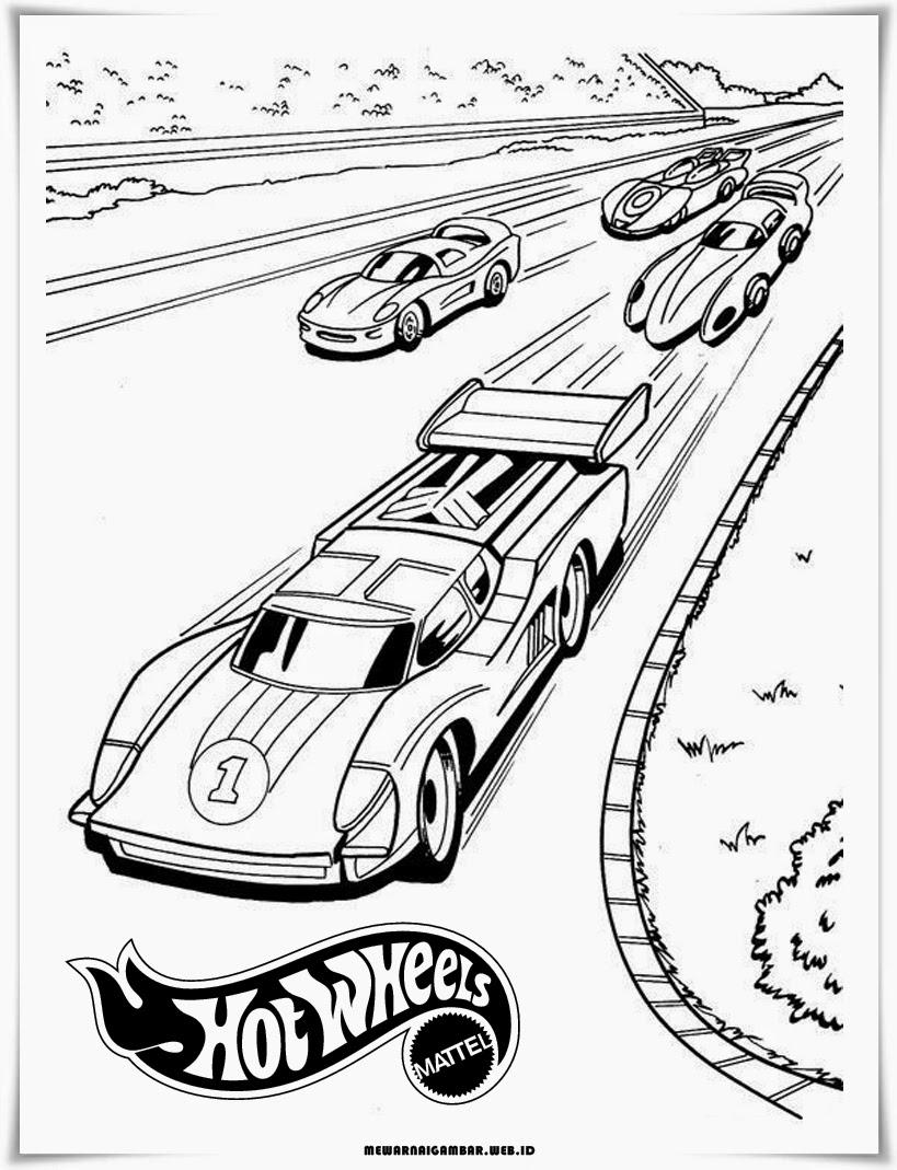 gambar mewarnai mobil wheels