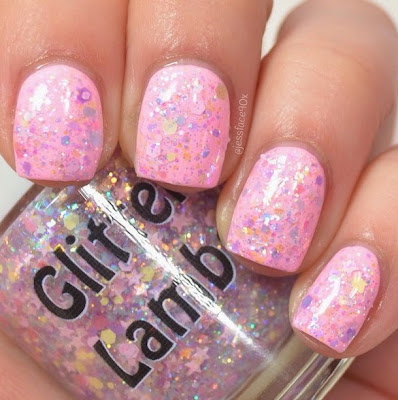 "Candy Lip Balm""Fashion Makeover Collection"" Glitter Lambs Nail Polish Swatched By @JessFace90x"