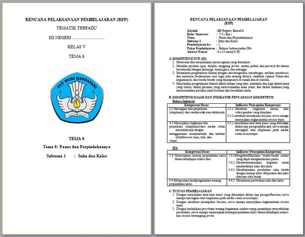 Contoh RPP Kelas 5 SD Semester 2 Kurikulum 2013 Terbaru 2019-2020