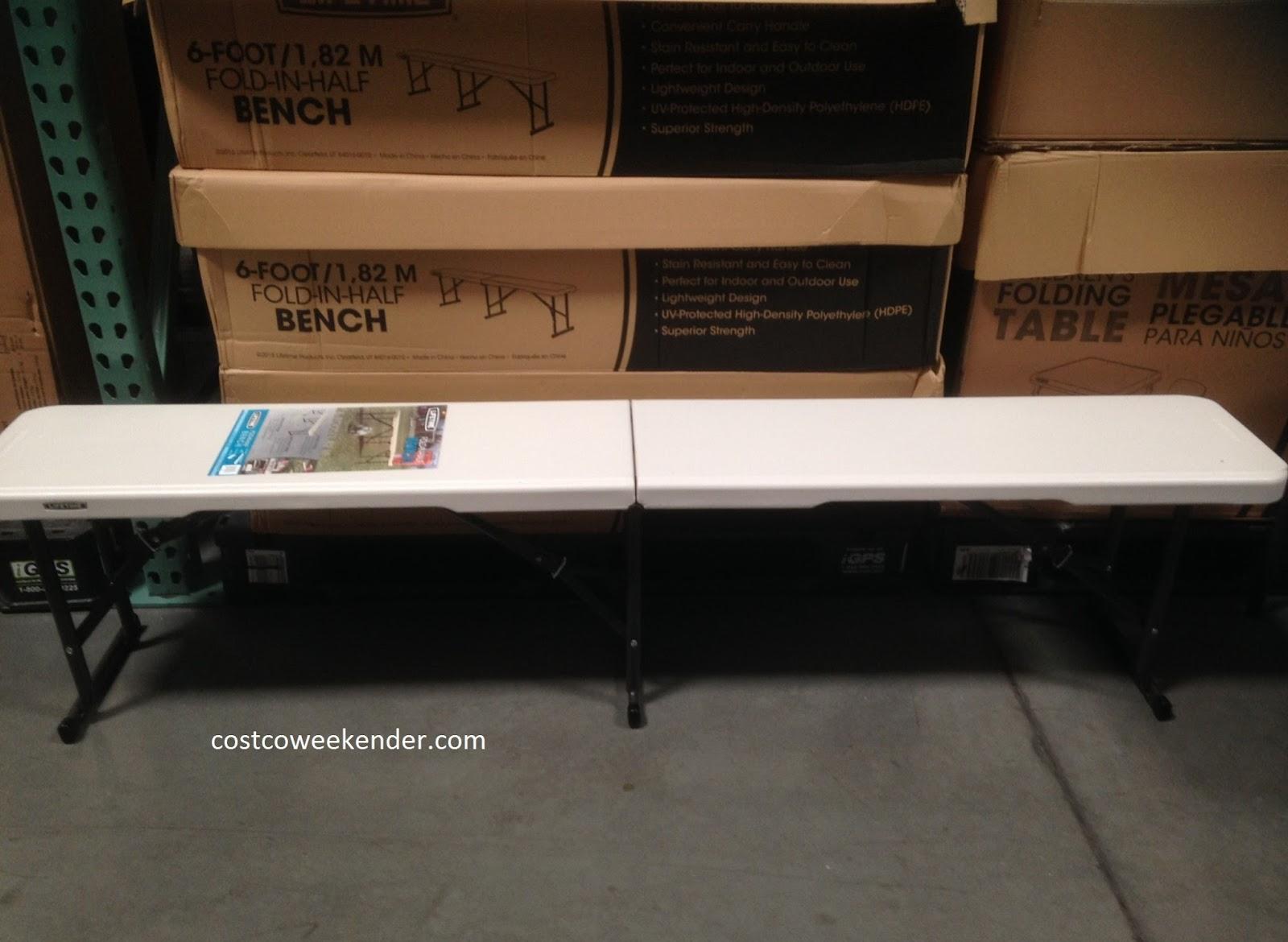 Lifetime Fold In Half Bench Costco Weekender