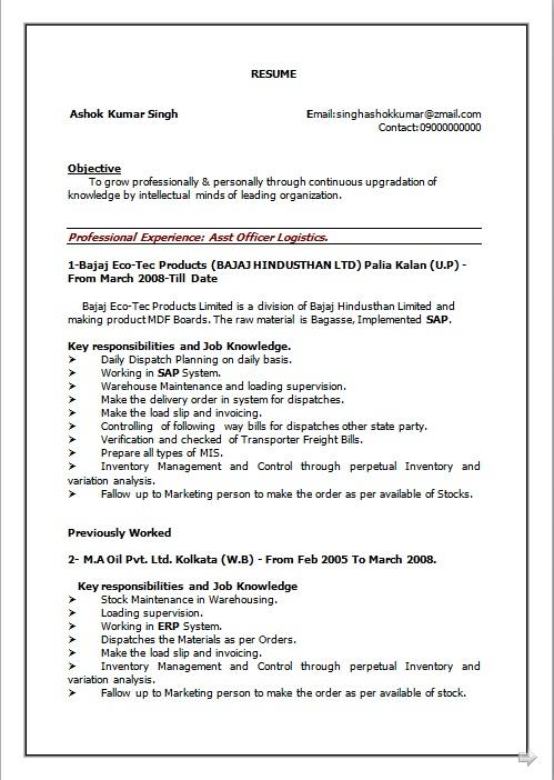 Resume Blog Co Resume Sample Of B Com Working As