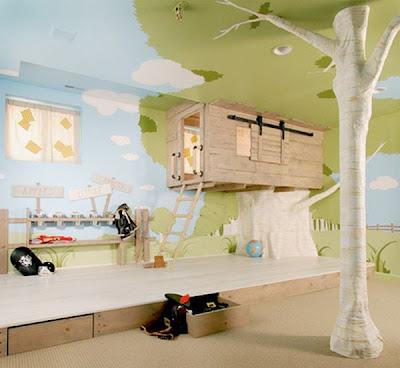 Casita del árbol en el interior de tu hogar.