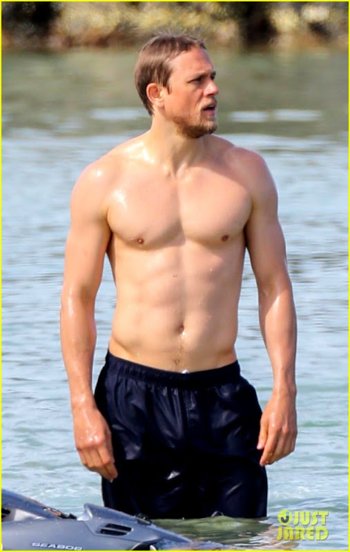 Celebrity & Entertainment   Shirtless Charlie Hunnam Is