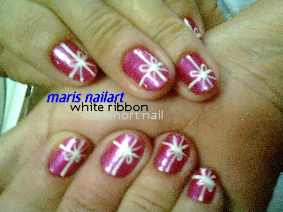 Ribbon Nail Art Designs
