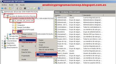 Crear usuarios de Active Directory de cara a instalar Microsoft ® Exchange 2010