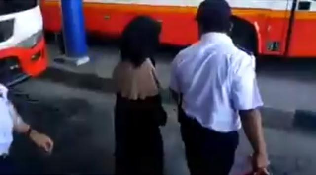 Ini Alasan Dishub Turunkan Perempuan Bercadar dari Bus