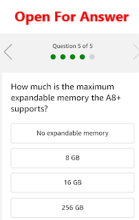 How much is the maximum expandable memory the A8+ supports?