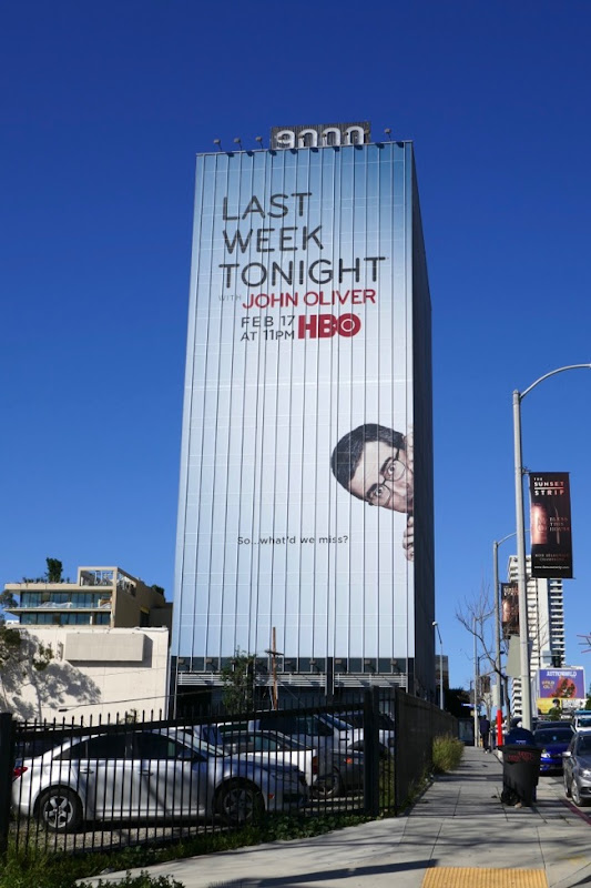 Last Week Tonight John Oliver S6 billboard Sunset Strip