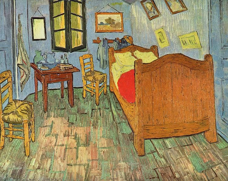 notes culturelles la chambre de van gogh en 3 versions. Black Bedroom Furniture Sets. Home Design Ideas