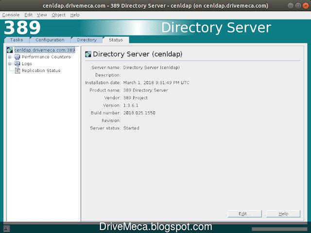 Status nos muestra el estado del servidor LDAP