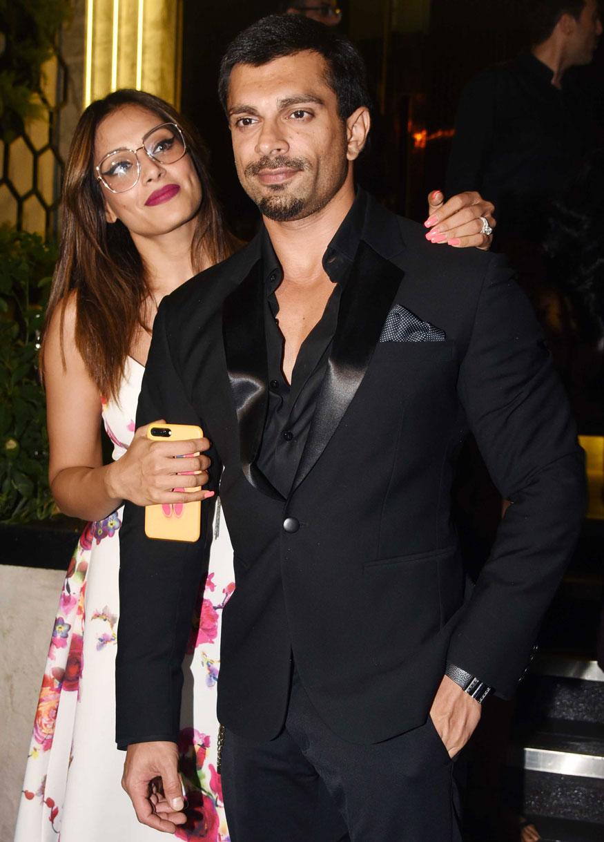 Bipasha Basu and Karan Singh Grover at Arth Restaurant In Bandra, Mumbai