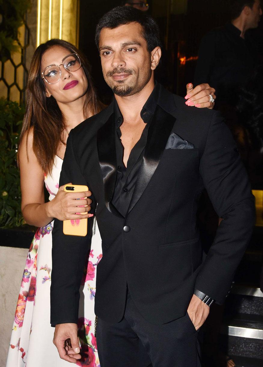 Bipasha Basu and Karan Singh Grover at Arth Restaurant In Bandra, Mumbai
