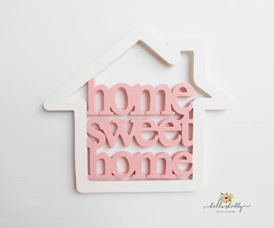 hiasan dinding home sweet home in frame ~ hello shabby