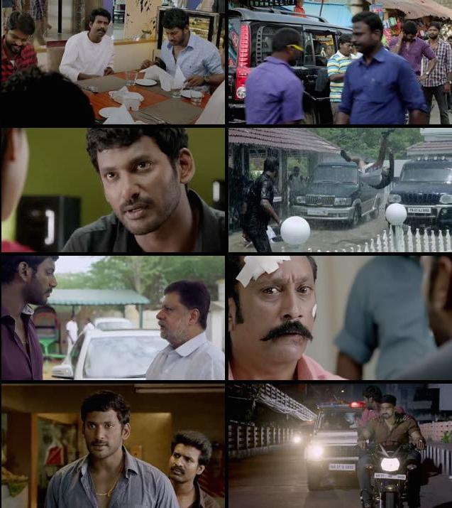 Poojai 2014 Dual Audio Hindi 480p HDRip 450mb
