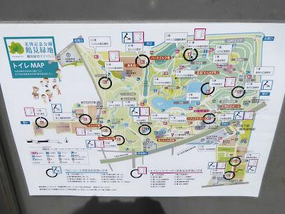 花博記念公園鶴見緑地の案内図、そしてトイレMAP