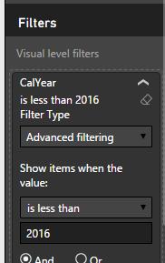 Ejemplo del filtro avanzado