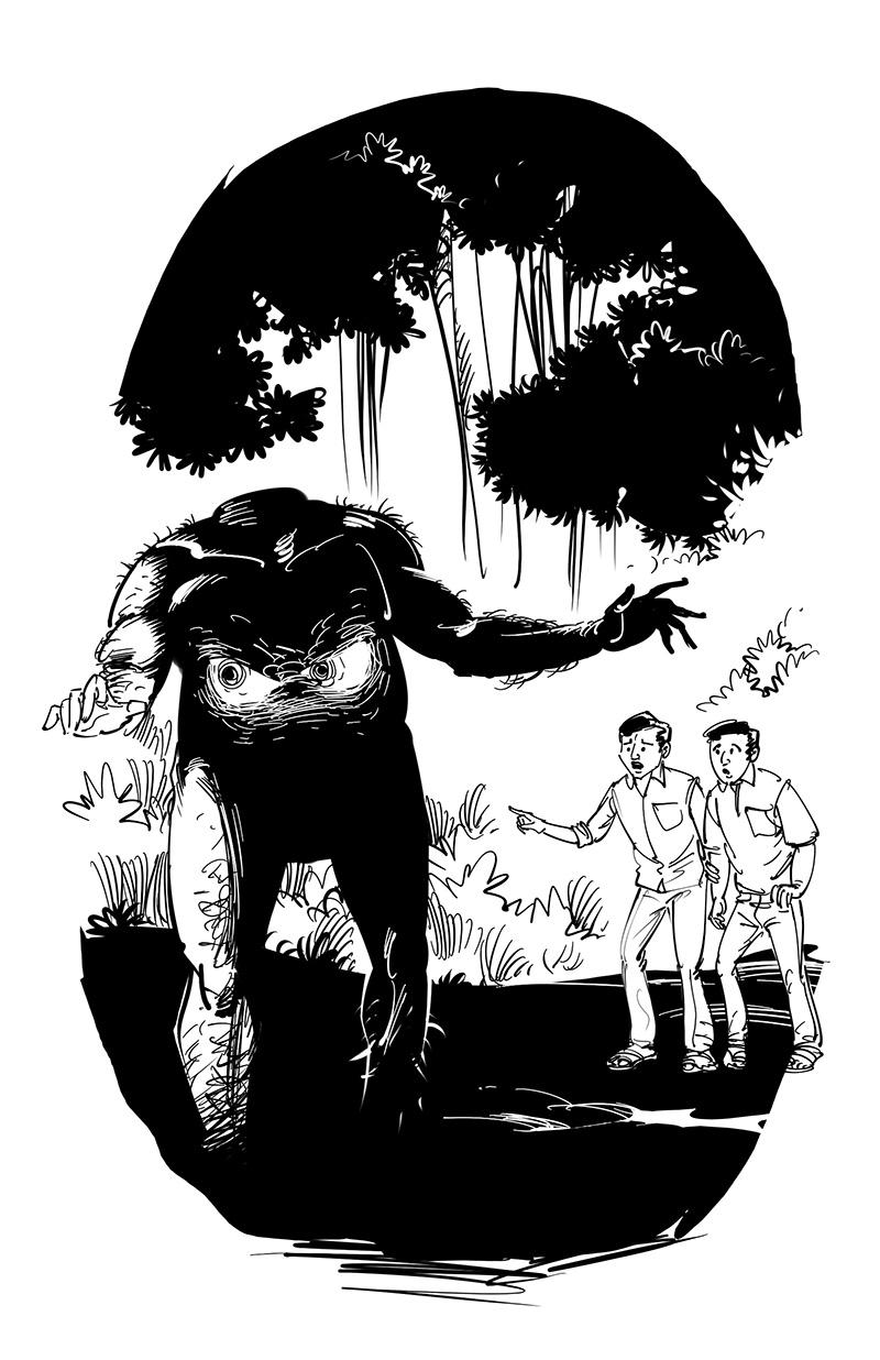 horror fiction illustration headless giant