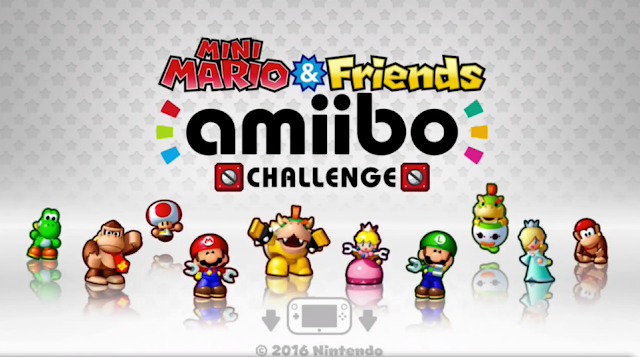 Mini Mario & Friends amiibo Challenge title toy Bowser Peach Jr. Rosalina Diddy Luigi Yoshi Toad Donkey Kong