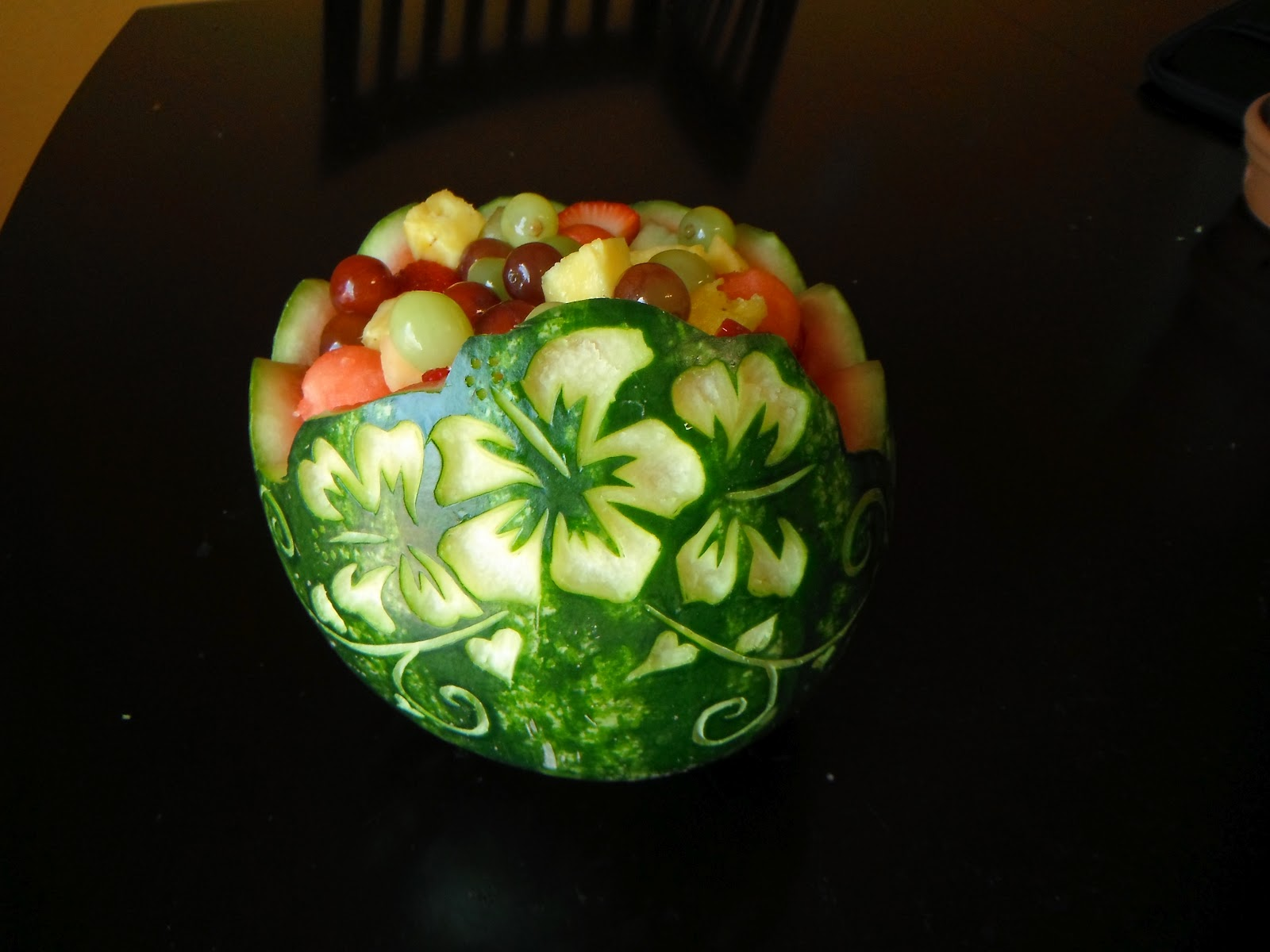 easy watermelon carving