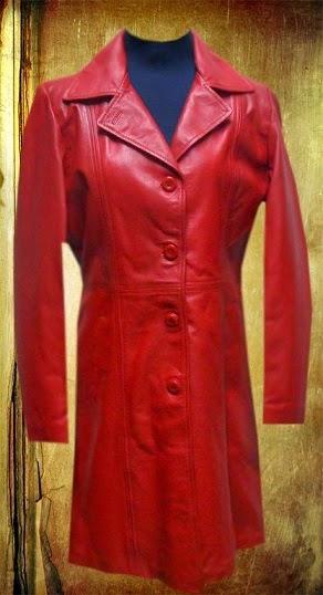 Gambar Jaket Kulit Wanita Panjang
