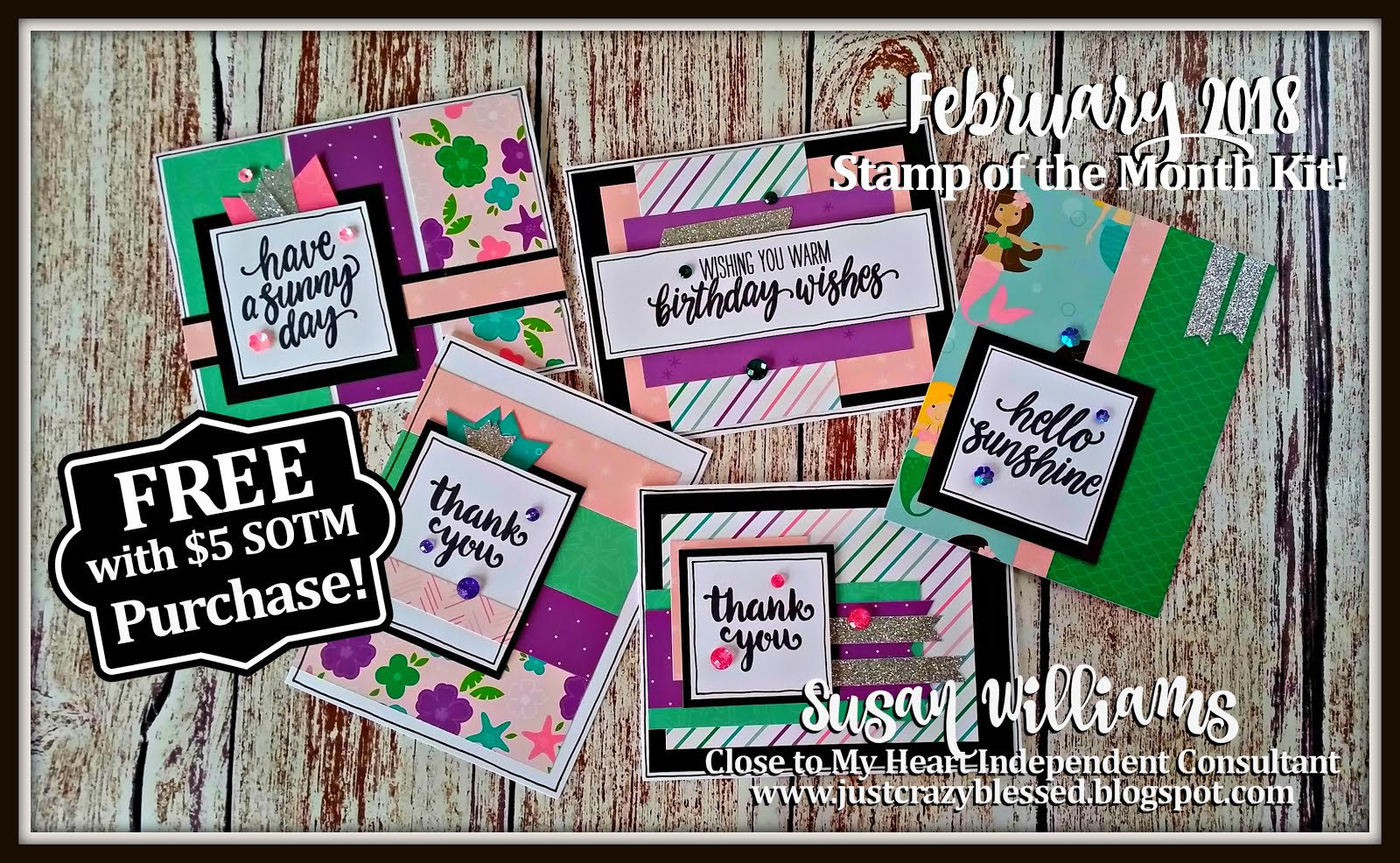 February Stamp of the Month Card Workshop!