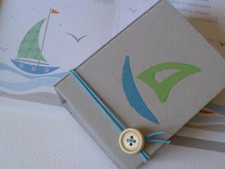 πράσινο και γαλάζιο καραβάκι για αγορίστικη βάπτιση