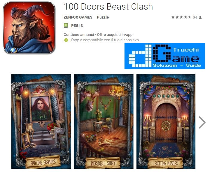 Soluzioni 100 Doors Beast Clash livello 1 2 3 4 5 6 7 8 9 10 | Trucchi e Walkthrough level
