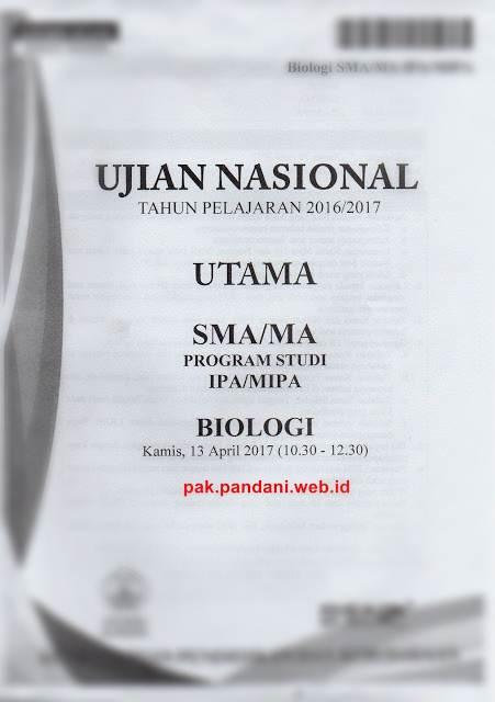 Download Kumpulan Soal Un Biologi Sma Blog Pak Pandani Download Soal Unbk Sma 2019 Biologi