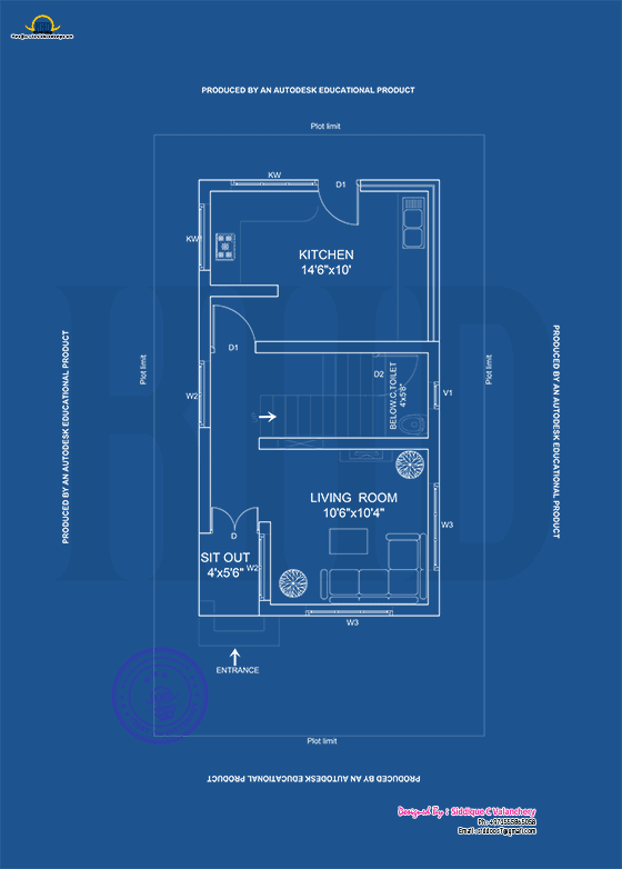 Ground floor plan blueprint