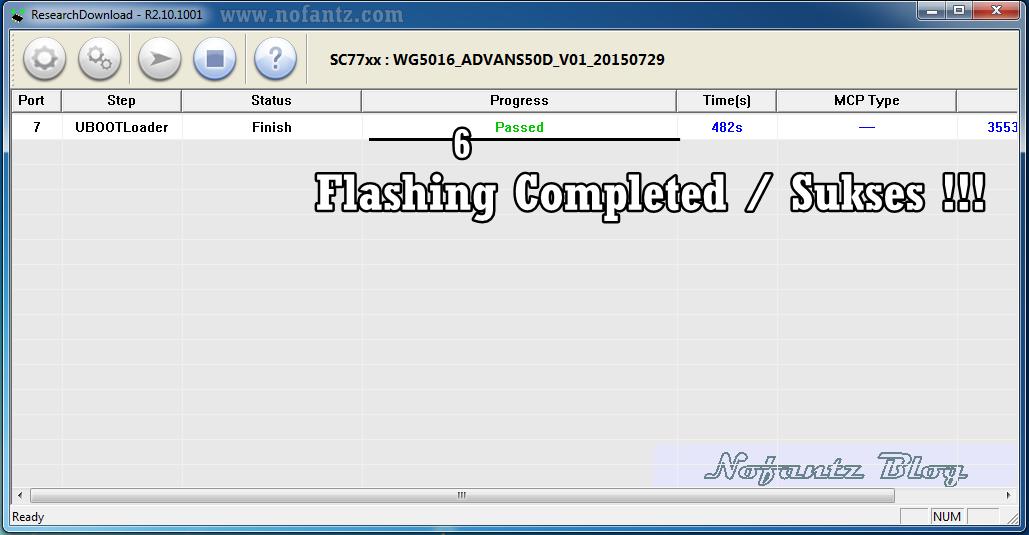 Cara mudah flashing Advan S50D dengan PC
