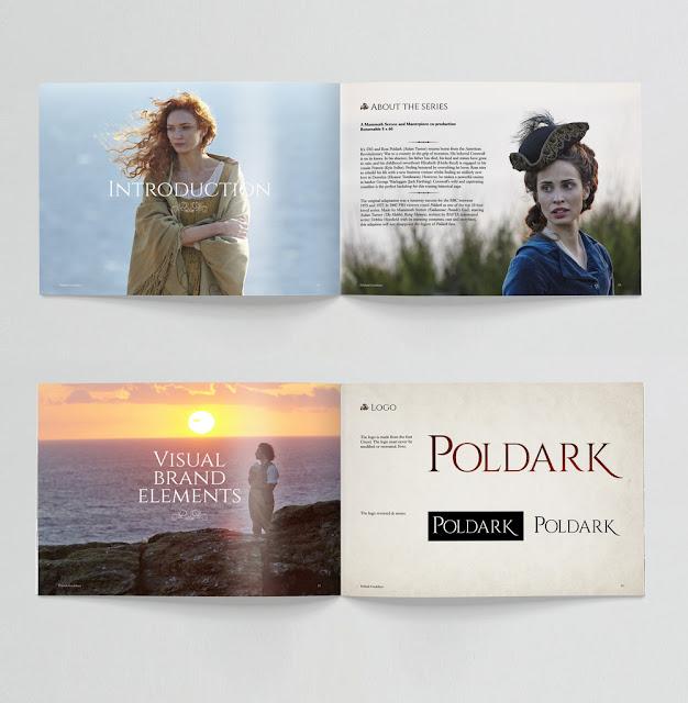 Poldark Brand Guide, style guide, LCDesign, ITVS GE, Eleanor Tomlinson, Heida Reed