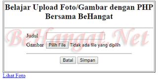 Tampilan Index.php - BeHangat