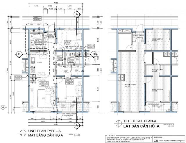 Thiết kế 3D căn hộ mẫu 73,31m2- 2PN Chung cư Booyoung Vina