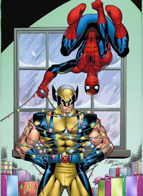 Wolverine and Spider-Man Christmas
