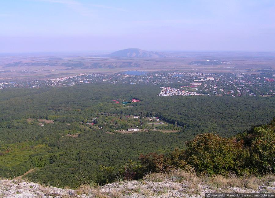 Вид с Бештау. Посёлок Иноземцево, санаторий Лесной, Геолог Казахстана