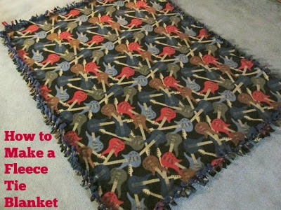 So easy to make these blankets and they are great for presents!  Vickie's Kitchen and Garden